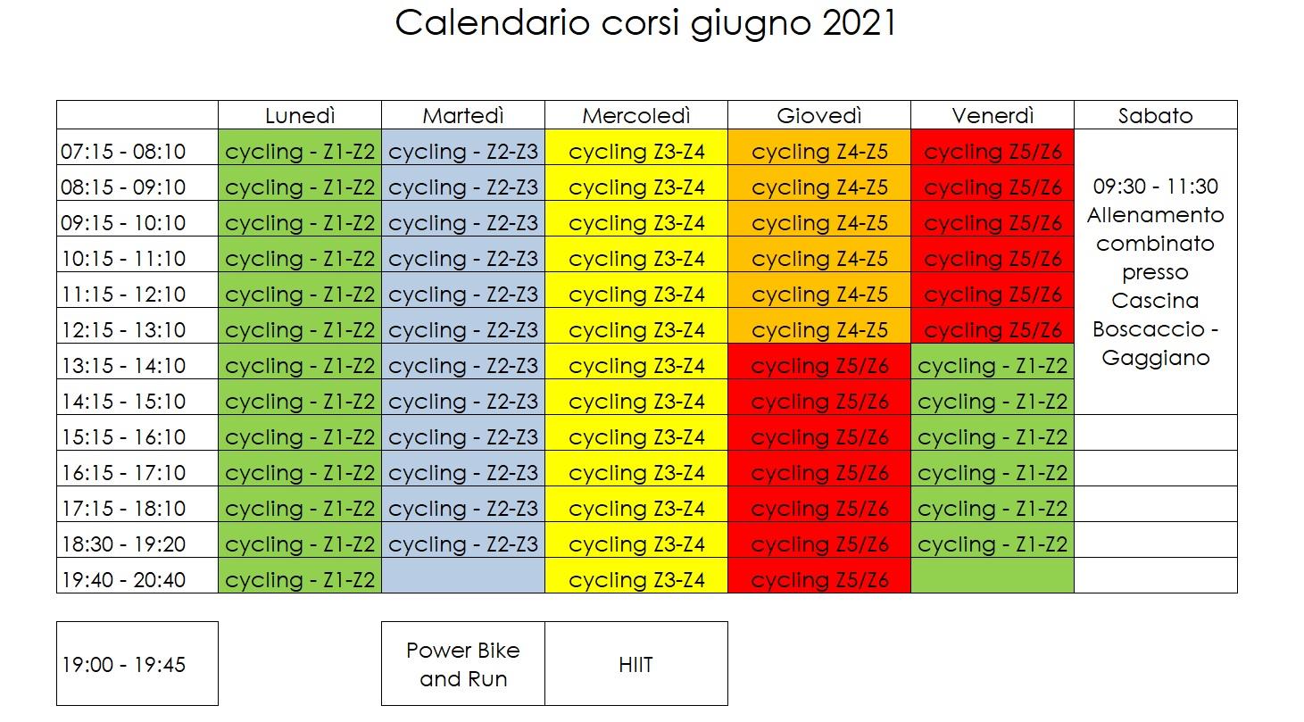Tri60 Calendario Giugno2021