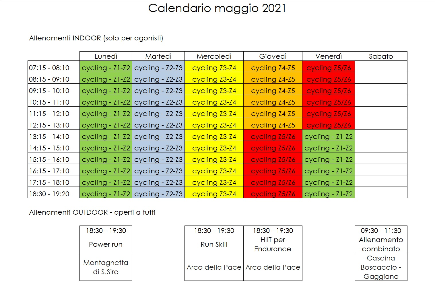 Tri60 Calendario Maggio2021